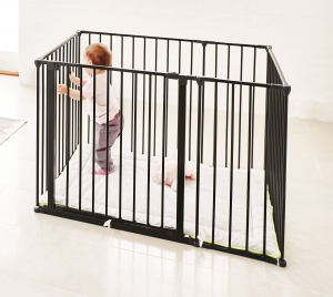 Square Playpen with Mat (Black)