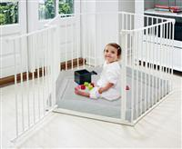 Park A Kid Playpen with Base (White) 5 PANEL - SPECIAL BEST BUY