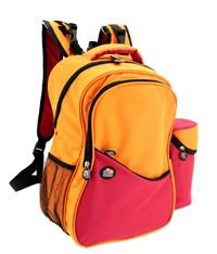 Aiden Diaper Backpack (Red/Orange)